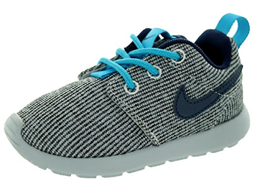 Nike Toddlers Rosherun (PS/TD) White/Mid Navy/Bl Lgn/WLF Gry Running Shoe 6 Infants US