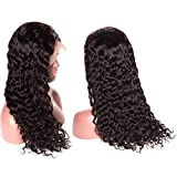 Younsolo Water Wave Lace Front Wigs 14 inch Brazilian Remy Human Hair Wigs Pre Plucked Natural with Baby Hair for Black Women Lace Front Wig