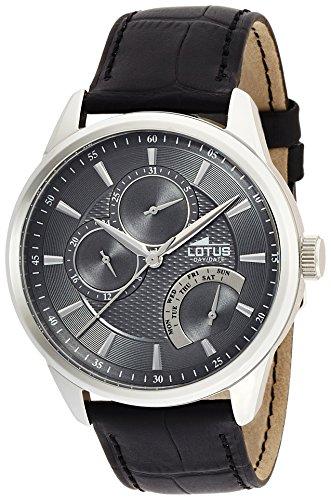 Lotus Herren Analoger Quarz Uhr mit Echtes Leder Armband 15974/4