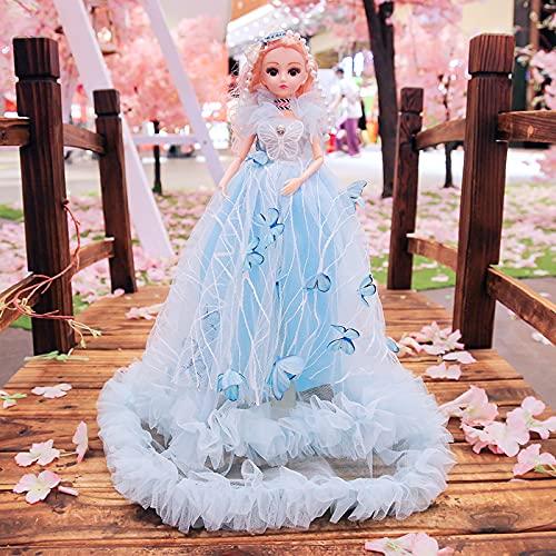Nuevo súper 45 cm Chica juguete de hadas de la muñeca blanca de la muñeca de la boda
