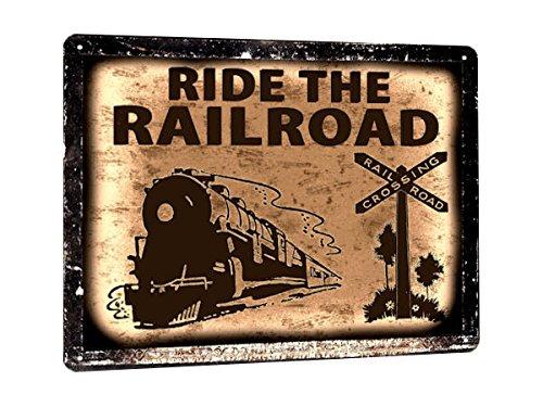 TRAIN locomotive Metal SIGN railroad vintage style fun kids room decor art gift 87