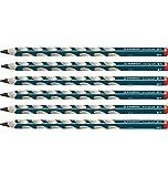 Ergonomischer Dreikant-Bleistift für Rechtshänder - STABILO EASYgraph in petrol - 6er Pack - Härtegrad HB