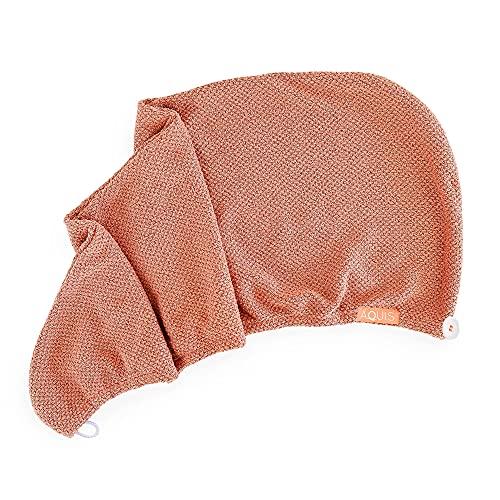AQUIS Copper Sure Rapid Dry Hair Wrap, Microfiber, Ultra Absorbent, Clean Towel Technology