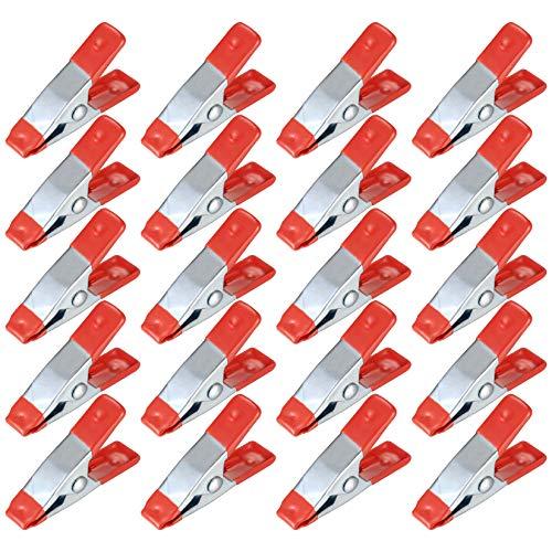 20 Piezas Abrazaderas de Resorte de Metal, Pinzas para Hacer Modelos, Pinzas para Ropa, Abrazaderas para Sujetar Ropa, Clips para Acampar, Carpintería, Herramienta de Modelado - 2 Pulgadas