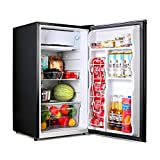 Compact refrigerator, TACKLIFE Mini Fridge with Freezer, 3.2 Cu.Ft, Silence, 1 Door, Black, Ideal Small...