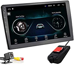 Polarlander 10 Inch Car Multimedia Player 2 din Android Car Stereo Radio Bluetooth WiFi GPS Audio Mirrorlink MP5 Player with Rear Camera and DVR