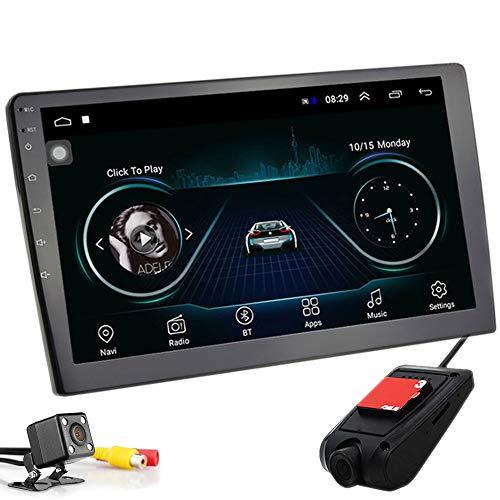 PolarLander 10 Pulgadas Android 8.1 Autoradio Bluetooth Universal 2 DIN Radio de Coche Android Reproductor estéreo Navegación GPS WiFi Bluetooth Reproductor MP5 con cámara de visión Trasera y
