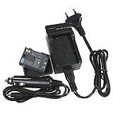 DSTE Repuesto Batería y DC18E Viaje Cargador kit para Canon NB-2L NB-2LH Optura 30 40 50 60 400 500 PowerShot G7 G9 S30 S40 S45 S50 S60 S70 S80 VIXIA HF R10 HF R100 HF R11 HG10 HV20 HV30 HV40