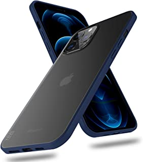 X-level for iPhone 12 Pro Max Case Slim Thin Matte Finish Military Grade Protective Hard Back Cover with Soft Edge Bumper ...
