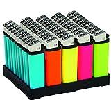 Accendini colori fluo con il tuo nome o logo - 100 pezzi colori assortiti - accendini personalizzabili a piacere - stampa rapida