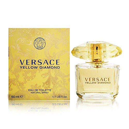 Versace Yellow Diamond Eau De Toilette Spray for Women, 1.7 Fl Oz