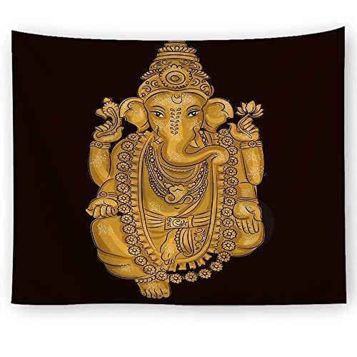 Tapiz de mandala de Chakra bohemio Hippie elefante gitano tapiz de Yoga montaje en pared manta de tela colgante A3 180x200cm