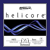 D'Addario ダダリオ ウッドベース(コントラバス)用 バラ弦 Helicore Orchestral A-String H613 1/2M Medium Tension 【国内正規品】