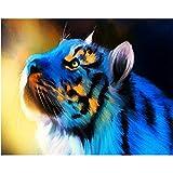 Jestang - Kit de pintura de diamante para adultos, diseño de tigre en 5D, perfecto para relajación y...