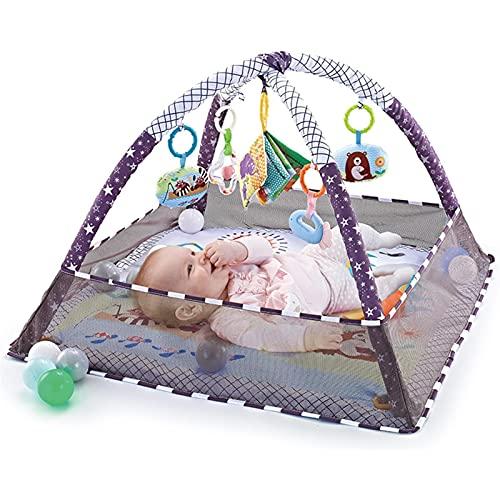 Estera de juegos para bebés y actividades para recién nacidos, gimnasio con marco ajustable de fitness para recién nacido, adecuado desde el nacimiento 80 x 80 x 50 cm