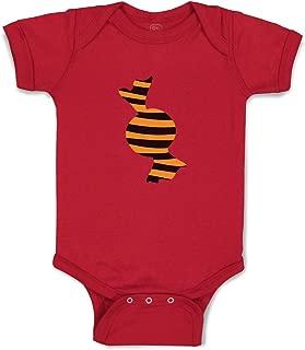 Custom Boy & Girl Baby Bodysuit Black Orange Candy Funny Cotton Baby Clothes