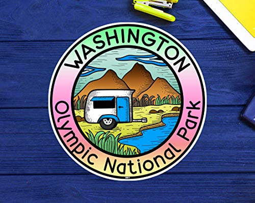 """Olympic National Park Washington Decal Sticker Vinyl Camping Camper Camp 3"""""""