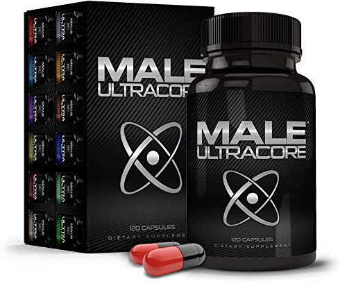 Male UltraCore Supplements (1 Month Supply) – High Potency - Ultimate Endurance, Drive & Strength Booster – 120 caps per Bottle