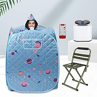 4YANG Portable Folding Personal Indoor Spa Steam Sauna,Family Fumigation Machine Steam for Weight Loss, Detoxification, Beauty, Relaxation