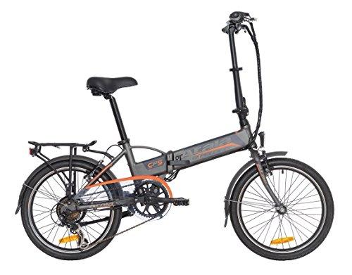 Atala Fahrrad Elektrische zusammenklappbar e-Folding, 6Geschwindigkeiten, Farbe Antracite-Arancione matt