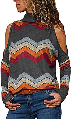Super㊣R Womens Casual Tie Dye 3D Print Color Block Round Neck Loose Fit Tunic Tops Blouses T-Shirt Party Shirts Tees Womens Long Sleeve Off Shoulder Sexy Sweatshirt Jumper Pullover Cardigans Grey