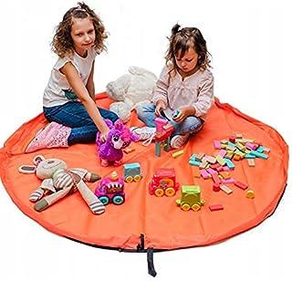 Speelgoed opbergtas en blokken organizer mand, kinderen speelmat 150 cm - draagbare kinderspeelgoed organizer
