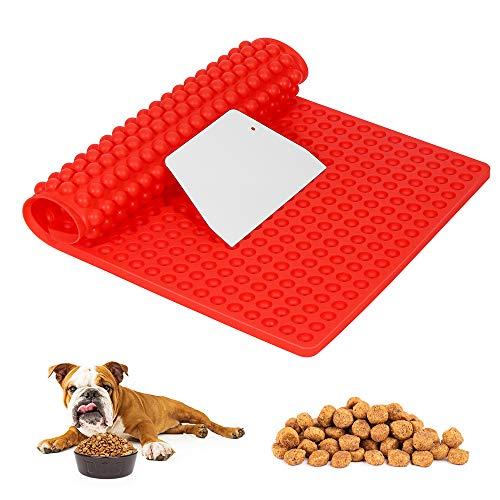 O-Kinee Silikon Backmatte, 1 Stück Hundekekse Backform mit Schaber, Backmatte 1cm Halbkugel Silikonform für Hundekekse Hundeleckerlies Backpapier Backunterlage Pralinenform, 39.5x27.5cm