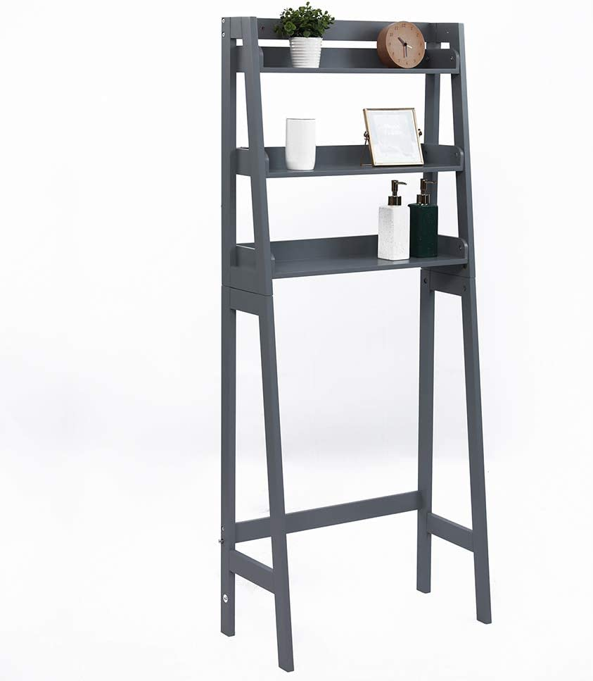 Toilet Complete Free Shipping Storage Rack Over The Organi Tier In stock 3 Shelf Ladder