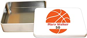 "Style In Print Personalized Custom Text Basketball Player Sport Aluminun Trinket Box Metal Tin - 6""x8"""