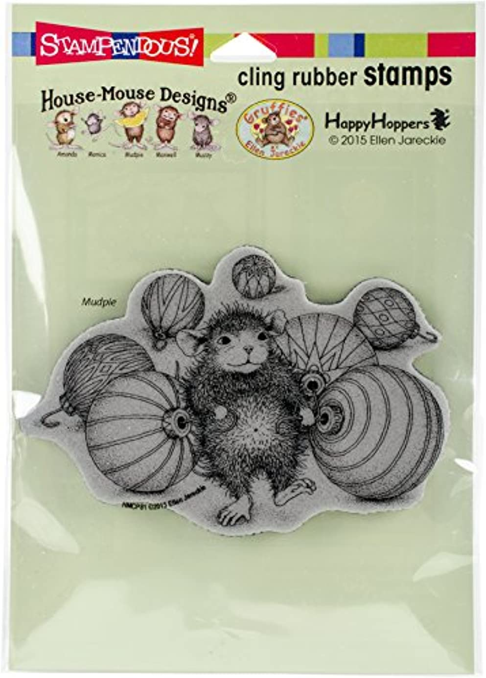 STAMPENDOUS HMCP81 Cling Stamp Ornament Collecting