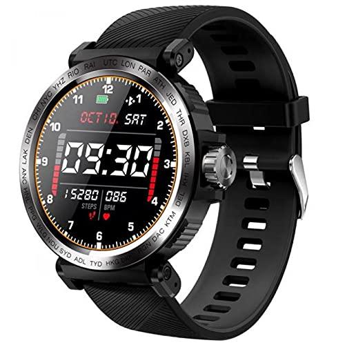 Reloj inteligente multifuncional, pulsera inteligente S18 con monitor de frecuencia cardíaca de toque completo, presión arterial IP68, reloj deportivo resistente al agua, compatible con IOS / Android
