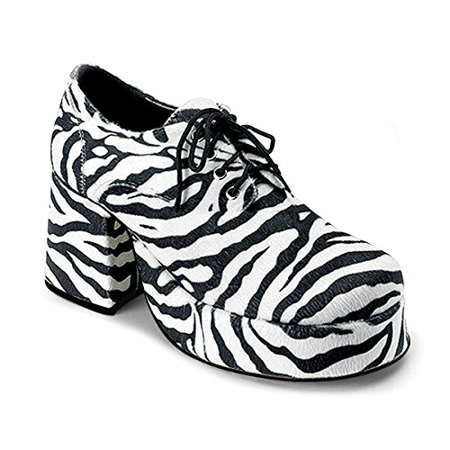 Pleaser Shoes Zebra Platform Adult Shoes X-Large (14) Black
