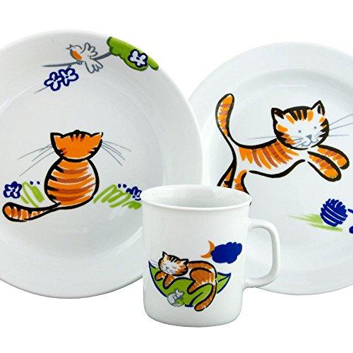 Set Assiette Plate, Assiette Creuse et Mug Chèvrefeuille