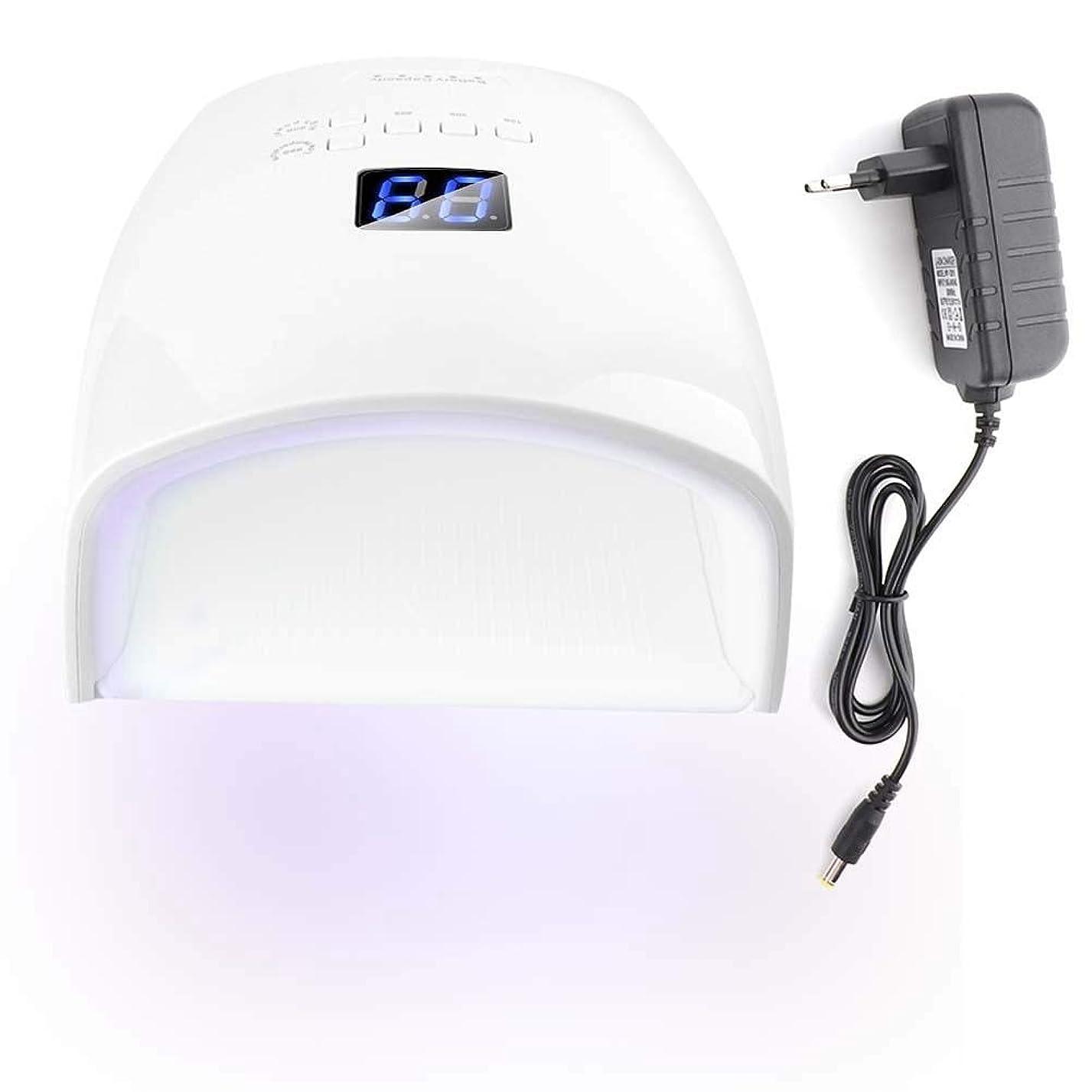 エキゾチックガイダンス線形48Wネイルドライヤー 30光 自動センサー 5タイマー付き UV LEDネイルランプ (ホワイト)