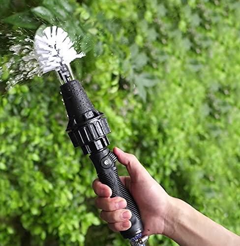 Bahama Cepillo Limpieza Rotativo para Manguera de Jardín como Herramienta de Kit Limpieza Coches, Motos, Llantas de vehículos, Bicicletas Suelos, Barbacoa y Exterior