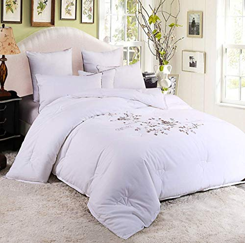 LOVE SUGER luxurious Duvets, White Quilt, Soft As Silk, 220 * 240cm