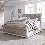 Liberty Furniture Industries Magnolia Manor Queen Sleigh Bed, White