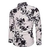 Camisa de Manga Larga para Hombre, Moda Informal, Estampado de Personalidad, Tendencia, Camisa de Manga Larga, cómoda Camisa de un Solo Pecho 4XL