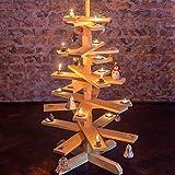 1 BestLoft Weihnachtsbaum aus Holz - Tannenbaum aus echter Kiefer unbehandelt (Höhe: 90cm)