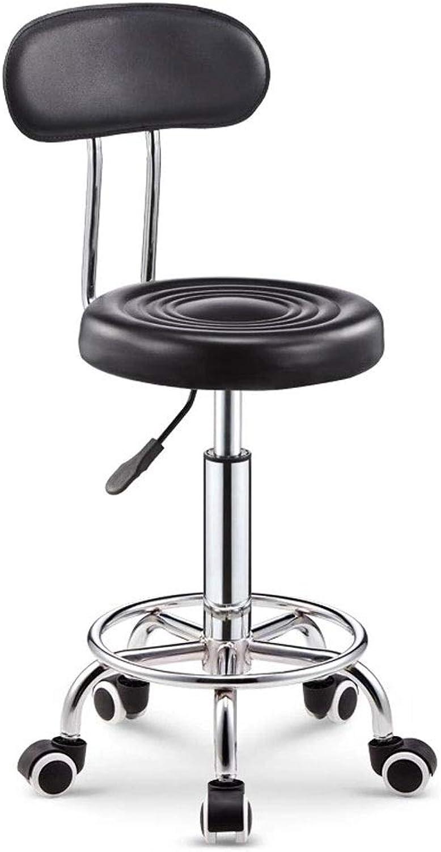 Bar Chair, Office Stool, Bar Stool, Back, Bar Stool Chair, Adjustable Bar Stools, Office bar KTV Three color Options (color   Black, Size   G)