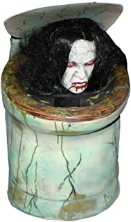 LIAN Halloween Props ,Toilet Voice Control Female Ghosts Scary Haunted House Secret Room Escape Horror Props Supplies