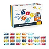Lock and Key Pairing Toy,Kids Learning Locks with Keys,Lock and Key Pairing Alphanumeric Alphabet Learning Toy for Kids Early Educational Toy Set,or Ages 3 yrs+ Boys and Girls Preschool Games Gifts