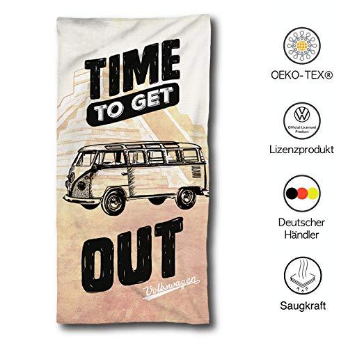 VW Bulli Handtuch 75x150 cm   VW Bulli Geschenke   VW Bus Badetuch Baumwolle   Camping Strandtuch Volkswagen T1 T2 T3