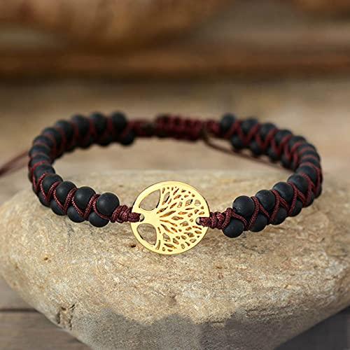 BECCYYLY Bracelet Tree Charm Bracelets String Braided Bracelets Yoga Friendship Lover Bracelet|Charm Bracelets|