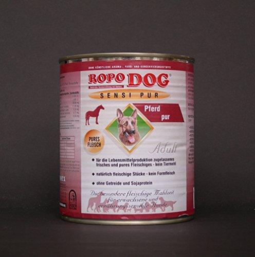 RopoDog 30 Dosen à 800 gr Adult Sensi Pur Pferd - pures Fleisch