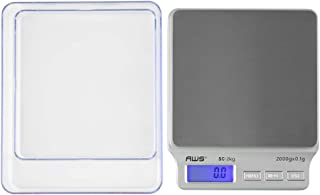 American Weigh Scales SC Series Precision Digital Food Kitchen Weight Scale, Silver, 2000 x 0.1G (AMW-SC-2KG)