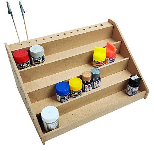 R-STYLE プラモデルや各種ホビーの塗料 溶剤の管理に 塗装棚 (4段)
