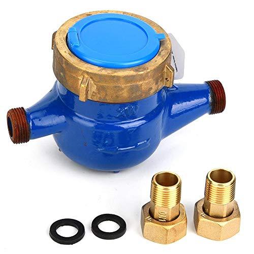 Wasserdurchflussmesser, LXS-15E 15mm Horizontale Art Wasserdichte Anzeige Wasserzähler GaugeTester Garten Heimgebrauch(LXS-15E)