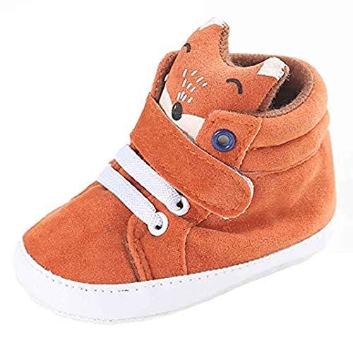 URSING_Babyschuhe Kleine Babyjunge Fuchs High Cut Schuhe,URSING Kleinkind Anti-Rutsch Weiche Sohle Sneaker (11, Orange)