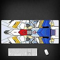 機動戦士ガンダムド滑り止めゴム製コンピューターマウスパッド、大型デスクパッド、プロのゲーミングマウスパッド-アニメデザイン大型マウスパッドゲーミングキーボードパッドアニメマウスパッド疲労軽量防水マウスパッド800 * 300 * 3MM / 900 * 400 * 3MM-A_800x300x3mm